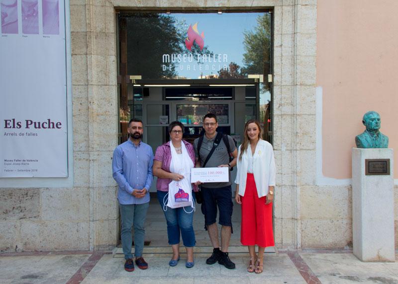Visitant 100.000 del Museu Faller en 2018