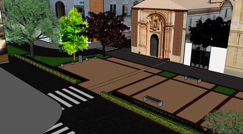 Recreació - Vista de la plaça de Sant Marcel·lí