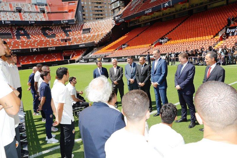 Felip VI rep en audiència al València CF