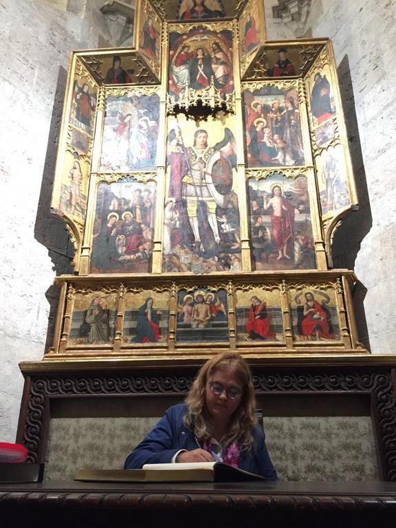Primer peregrino del Santo Grial (foto: José Cuñat)