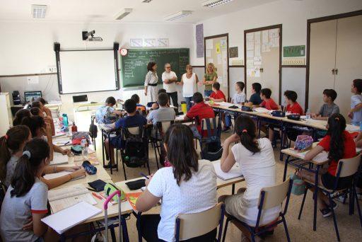 Conxa García visità el CEIP Sant Ignasi de Loiola