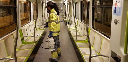 Desinfecció Metrovalencia - Desinfección Metrovalencia