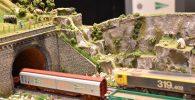 Exposición módulos de trenes escala H0