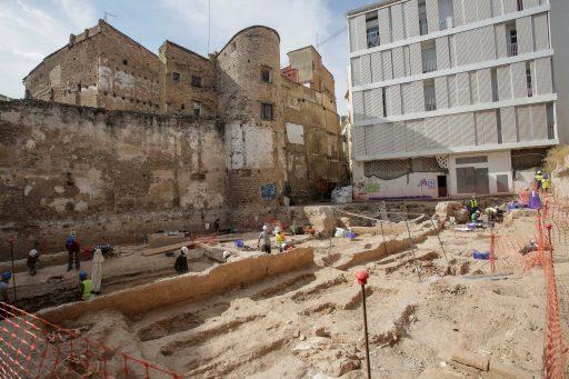 rehabilitació muralla islàmica València / rehabilitación muralla islámica València